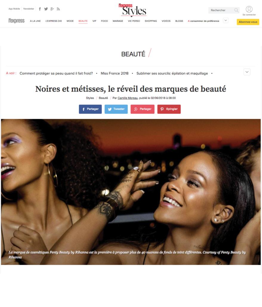 PAGE BLOG 46-L'Express Blog - Beaute femmes Noires et Metisses, le reveil des marques