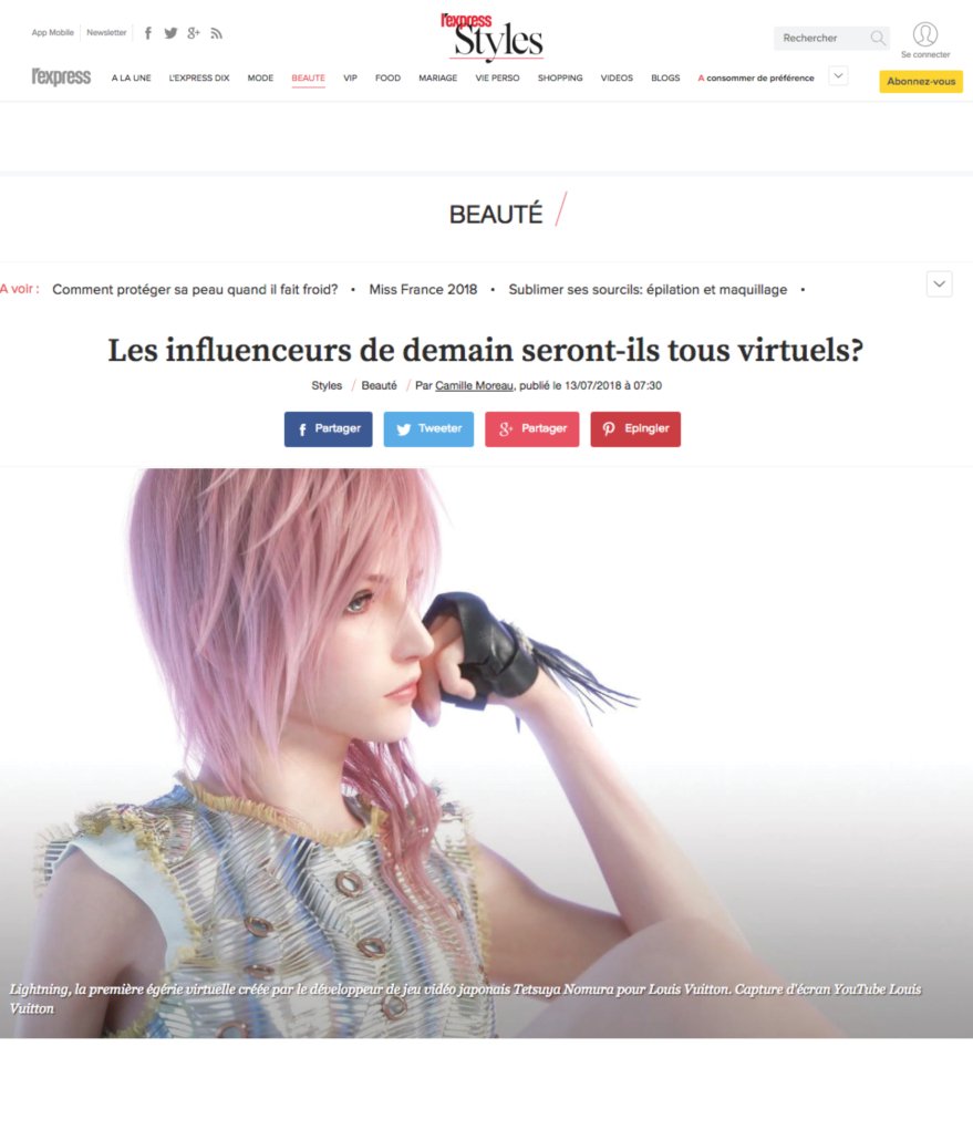 PAGE BLOG51-L'Express Styles - Les influenceurs virtuels1