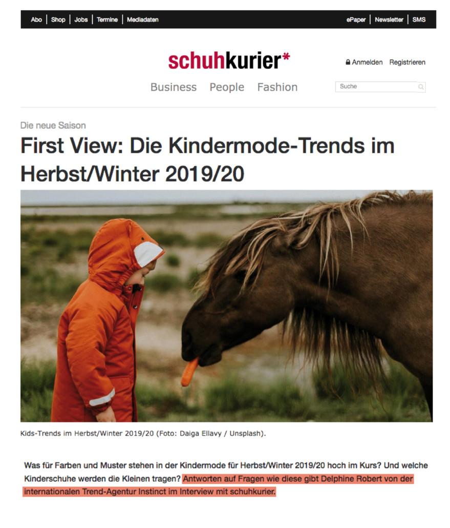 PAGE BLOG54-Schuh Kurier - Tendances FW19-20